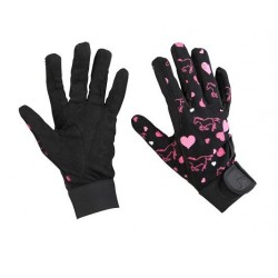 Guantes Corazones Red Horse
