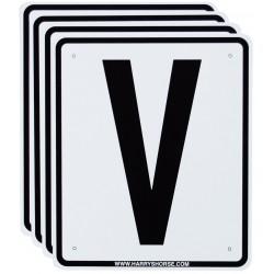 Letras Pista V, S, R, P