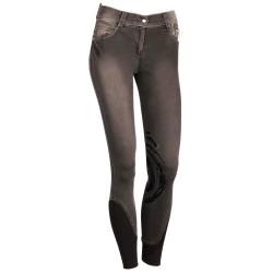 Pantalones de montar Dirty Denim grip Junior