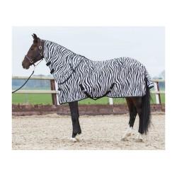 Manta anti-moscas Zebra con cubre cuello