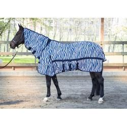Manta anti-moscas cubre cuello lycra Zebra